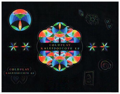 COLDPLAY Kaleidoscope EP Ltd Ed RARE Stickers Sheet +BONUS Rock Alt Pop Stickers