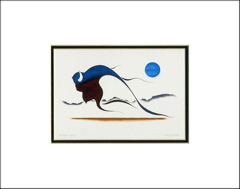 """BUFFALO SPIRIT 11"""" x 14"""" Matted art print by Isaac Bignell  3162"""