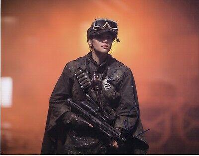 Felicity Jones Signed Rogue One 11X14 Photo  Star Wars Jyn Erso Autograph