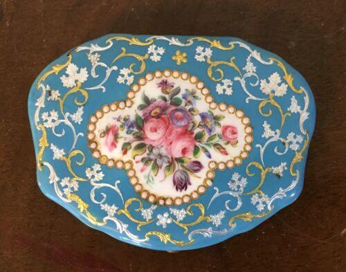 Antique 18th 19th c. Bilston Battersea Enamel Box Purse Hand Painted Silk Lining