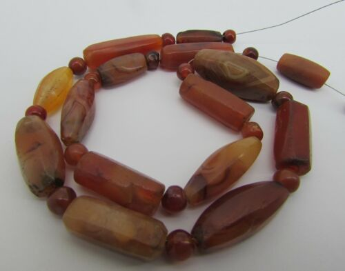 31 Ancient Carnelian beads from Afghanistan.