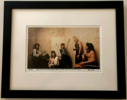 Guns N Roses Slash Axl Rose Rare backstage 5 days before they were signed 70/100