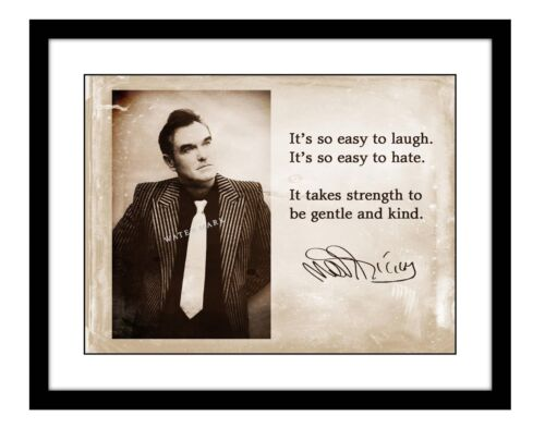 Morrissey 11x14 Signed Photo Print Song Lyric The Smiths Concert Music