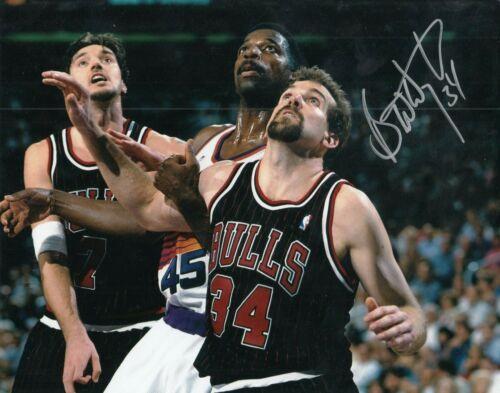BILL WENNINGTON signed (CHICAGO BULLS) BASKETBALL *LAST DANCE* 8X10 W/COA #1