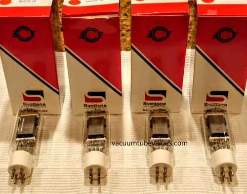 Svetlana Factory Platinum Matched  QUAD Four SV572-10 Power Triode Tubes