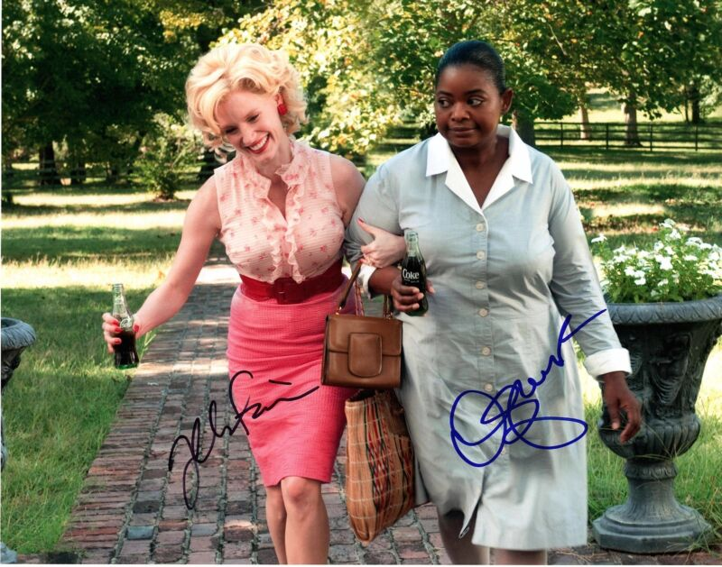 JESSICA CHASTAIN OCTAVIA SPENCER SIGNED 11X14 THE HELP PHOTO! AUTOGRAPH!