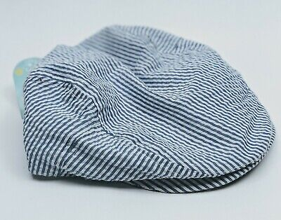Kids Newsboy Stripe Chambray Cap Comfortable Blue Hat Spring Summer NEW 2t-5t (Kids Newsboy Hat)