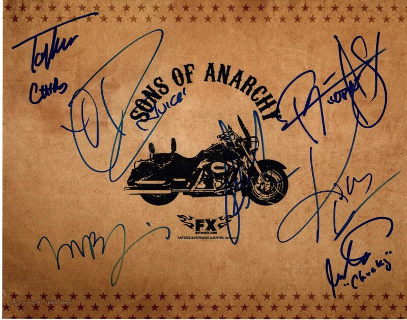 SONS OF ANARCHY CAST SIGNED 11X14 POSTER PHOTO! AUTOGRAPH! CHARLIE HUNNAM JAX!