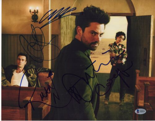 PREACHER CAST SIGNED PHOTO 11X14 DOMINIC COOPER RUTH NEGGA AUTOGRAPH PSA BAS COA
