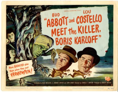 Abbott & Costello Meet the Killer Boris Karloff     Original 8 Lobby card set