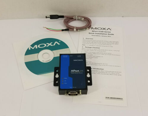 MOXA NPort 5110 Single Port RS232 to Ethernet Serial Device Server