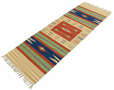 ING-1710-2-Carpet Kilim Indian Original 100% Cotton - 180x60 Cm - Farah1970