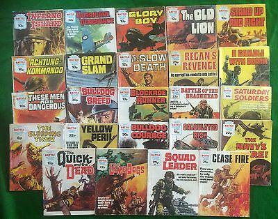 24 Battle Picture Library Comics Random Lot War Commando