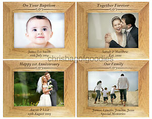 PERSONALISED-Engraved-WOODEN-Wood-Photo-Picture-FRAME-Gifts-For-Frames-Gift