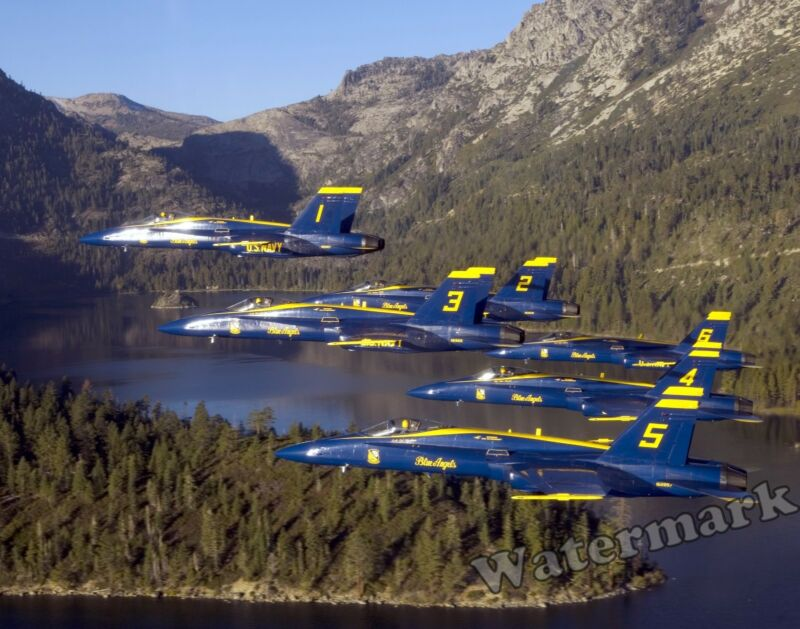 Photograph  United States Navy F18 Blue Angels Jet  Aircraft  8x10