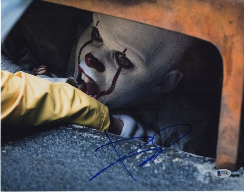BILL SKARSGARD SIGNED IT PHOTO 11X14 PENNYWISE THE CLOWN AUTOGRAPH BAS PSA