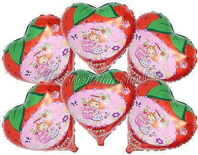 Strawberry Shortcake Birthday ((6) Pc Strawberry Shortcake Balloons Party Birthday)