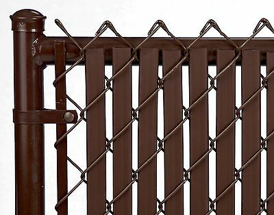 Chain Link Brown Double Wall Tube™ Privacy Slat For 6ft High Fence Bottom Lock