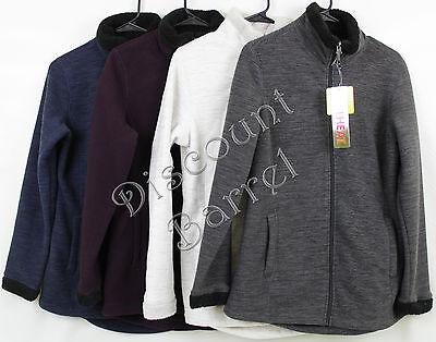 New Weatherproof 32 Degrees Heat Womens Fleece Jacket Full Zip Sherpa Lined