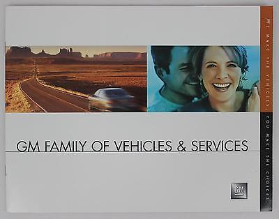 General Motors 2002 GM Family of Vehicles & Services Sales Brochure / Literature