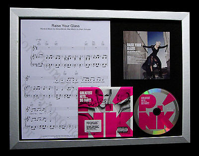 PINK Raise Your Glass TOP QUALITY MUSIC CD FRAMED DISPLAY+EXPRESS GLOBAL SHIP