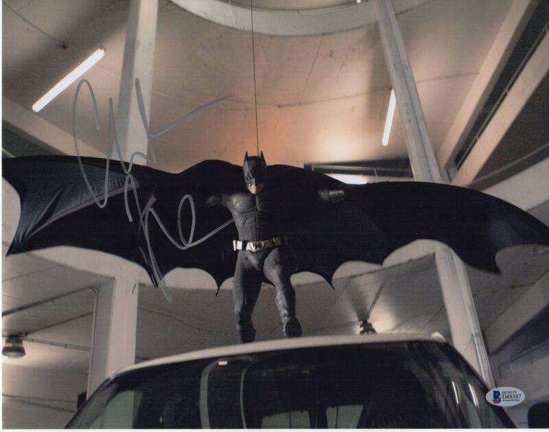 CHRISTIAN BALE SIGNED THE DARK KNIGHT PHOTO 11X14 BATMAN BRUCE WAYNE AUTO BAS 1