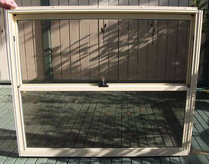 ALUMINIUM GLASS DOUBLE HUNG WINDOW WITH TINTED GLASS Gladesville Ryde Area Preview