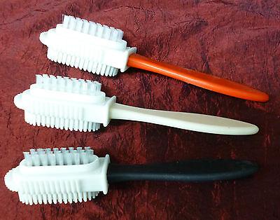 Combi Bürste Raulederbürste Schuhbürste Wildlederbürste Pflege Reinigung Perlon