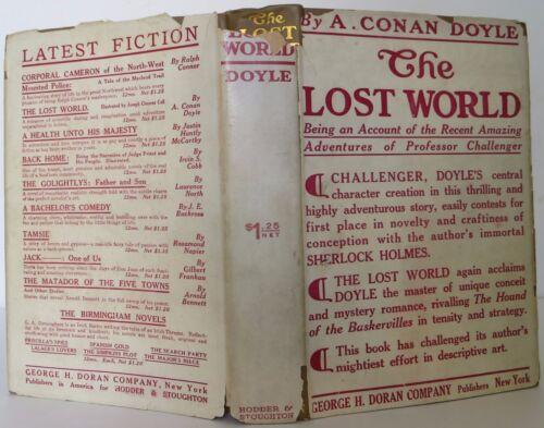 Arthur Conan Doyle The Lost World First Edition 1912