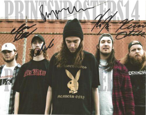 Knocked Loose 8x10 SIGNED REPRINT Bryan Garris Metal Hardcore