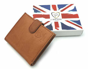 Designer-J-Wilson-Real-Genuine-Mens-High-Quality-Leather-Wallet-Purse-Gift-Box