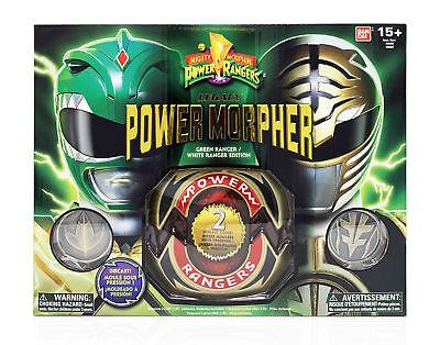 Mighty Morphin Power Rangers Diecast Legacy Green & White Ranger Morpher - Mighty Morphin Power Rangers Green Ranger