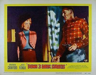 DOWN 3 DARK STREETS 1954 Ruth Roman LOBBY CARD #8