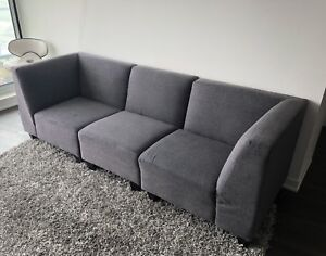 3 piece Couch - GREY - $250 obo (Toronto)