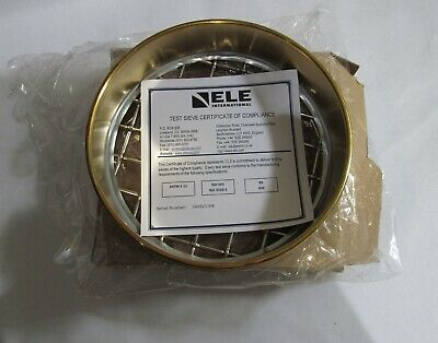 New Ele Int 79-5580 8in Dia Astm Sieve 25.0mm Brass Stainless Steel Mesh