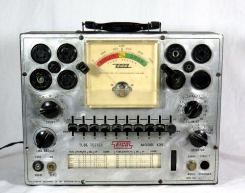 Vintage EICO 625 TUBE TESTER - Lights Up, Dial Centers, etc.