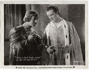 Original VINTAGE 1930 Photo Film still The Vagabond King Dennis King B&W
