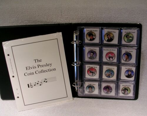 Elvis Presley Colorized Half & Quater Coin Collection - Music Commemorative