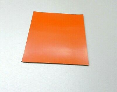 Silicone Rubber Pad High Temp Solid Redorange Grade Sheet 6 X 6 X 14 Thick