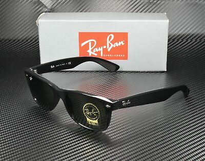 RAY BAN RB2132 901 New Wayfarer Black Crystal Green 52 mm Unisex (Rb2132 901 52)