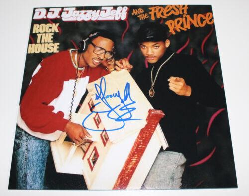 DJ JAZZY JEFF AND THE FRESH PRINCE SIGNED 12X12 ALBUM FLAT PHOTO COA WILL SMITH