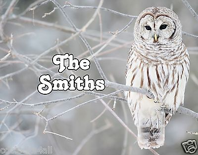 Owl GLOSSY Photo Picture ** PERSONALIZED ** Wall Decor / Print - Owl Photo