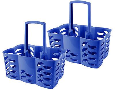 2er Set Flaschenträger Flaschenkorb blau 6 Flaschen Made in Germany Dosen