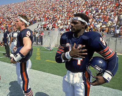 WALTER PAYTON JIM MCMAHON 1985 NFL FOOTBALL CHICAGO BEARS SUPER BOWL 8X10 PHOTO