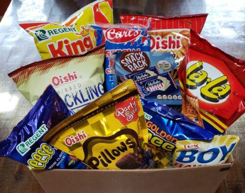 Filipino Snack Box - 10 pieces assorted w/ Sky Flakes, Boy Bawang, Oishi, LaLa