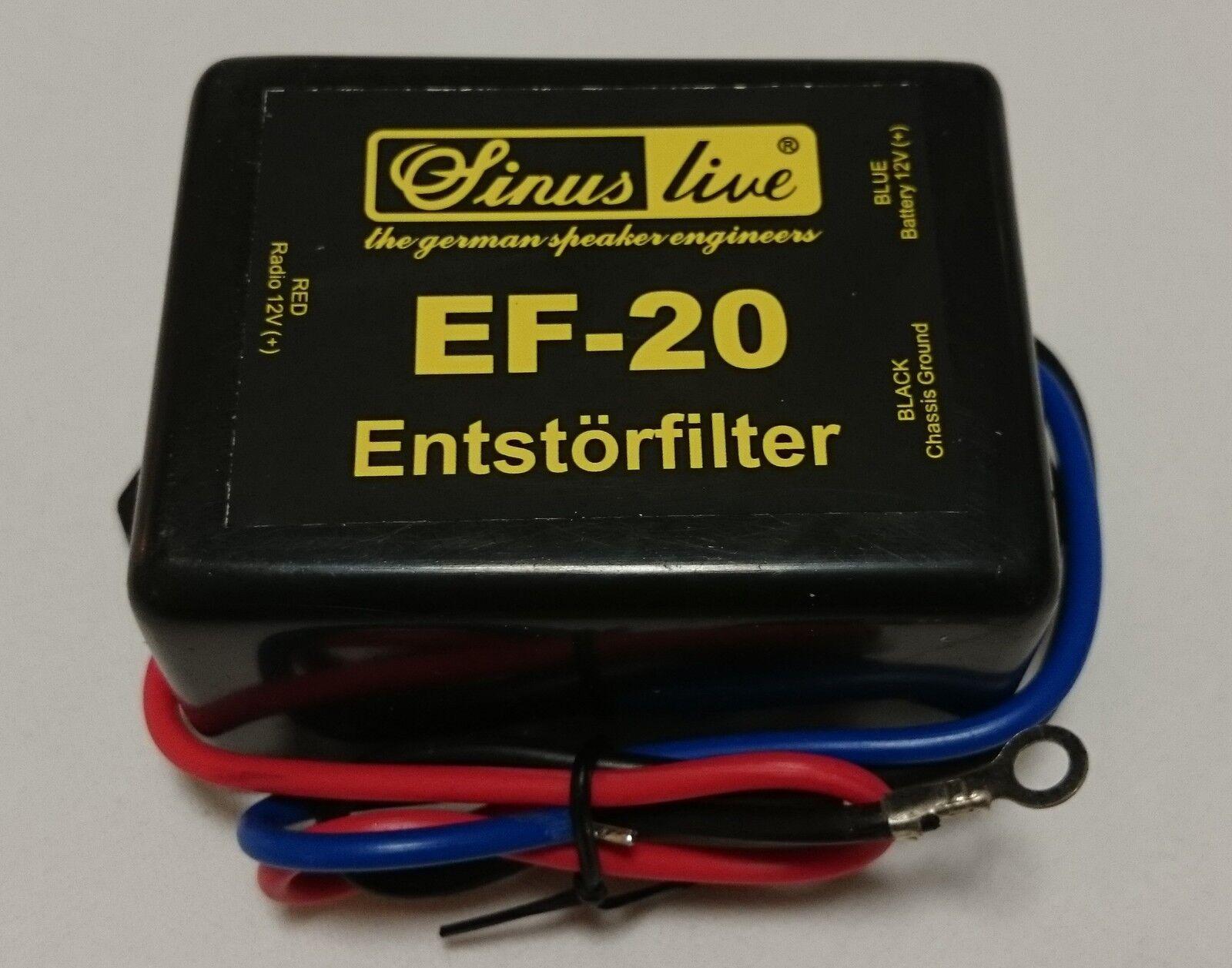 SinusLive EF-20 Entstörfilter Störfilter Massefilter Auto Piepen Lichtmaschine