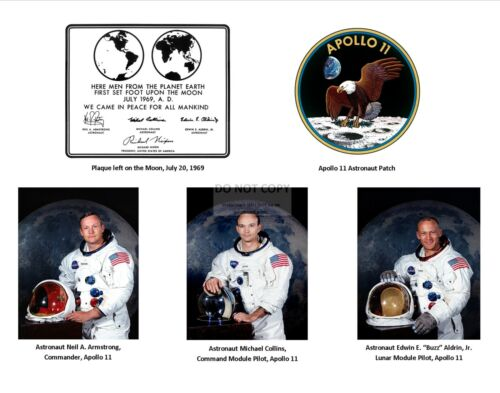 APOLLO 11 TRIBUTE WITH IMAGES OF ALL 3 NASA ASTRONAUTS -  11X14 PHOTO (SP-543)