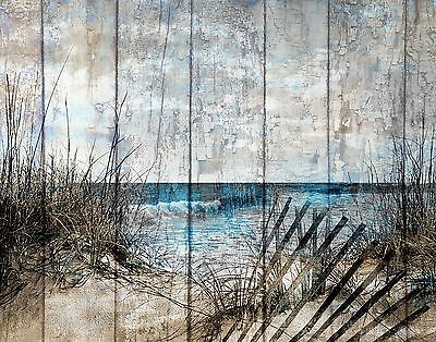Rustic Coastal Beach Theme Bathroom Bedroom Home Decor Matted Picture