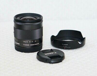 Canon EF-M 11-22mm lens *excellent*