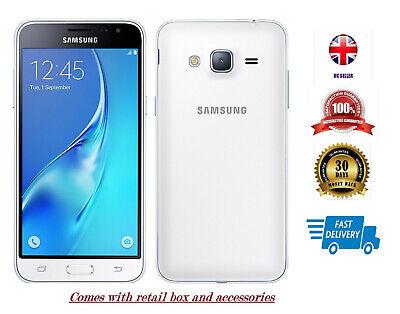 New Samsung Galaxy J3 2016 SM-J320FN Smartphone 8GB White 4G LTE Unlocked 8MP UK